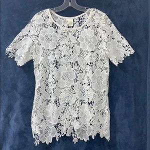 Simple Irresistible White Lace Top
